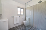 The Ensuite Bathroom at James Street Morpeth Three Bedroom Townhouse.